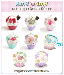 Cupcake Necklaces by Fluffntuff