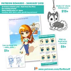 Patreon rewards - January 2018 by Fluffntuff