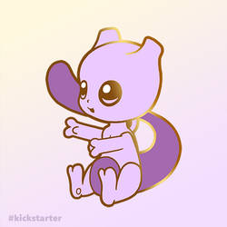 Pokemon Mewtwo hard enamel pin