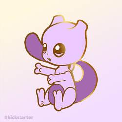 Pokemon Mewtwo hard enamel pin