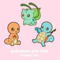 Pokemon Pin Club Launch - Kanto starters