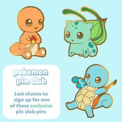 Exclusive Pokemon Pins - Pin Club