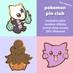 Pokemon Pin Club - Marowak, Pumpkaboo, Haunter