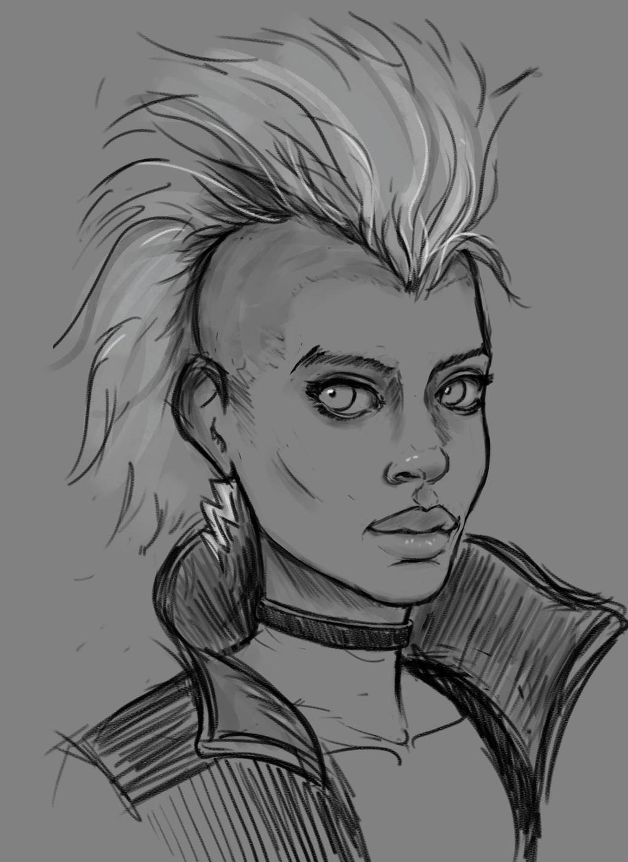 Storm head sketch by hyrelynk