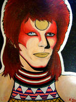 Glowy Bowie by afiendishglee
