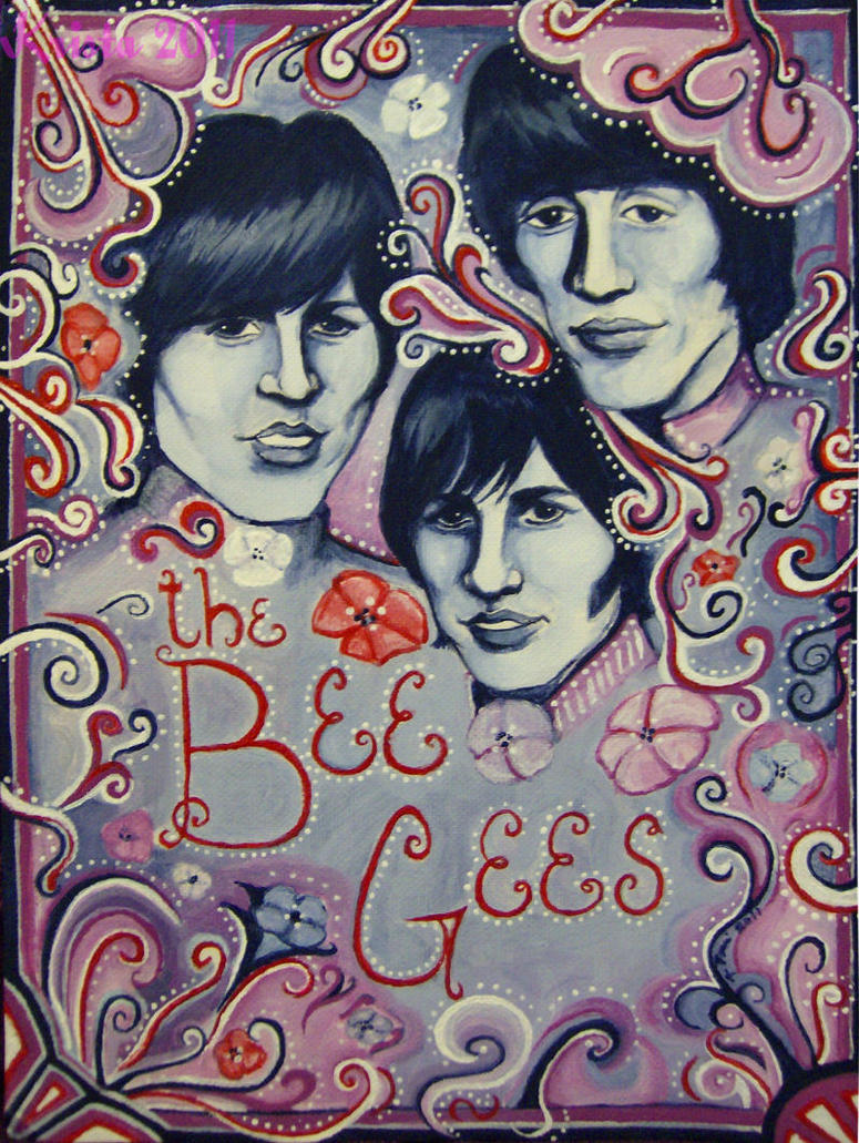 Swirly Psychedelic: Bee Gees by afiendishglee