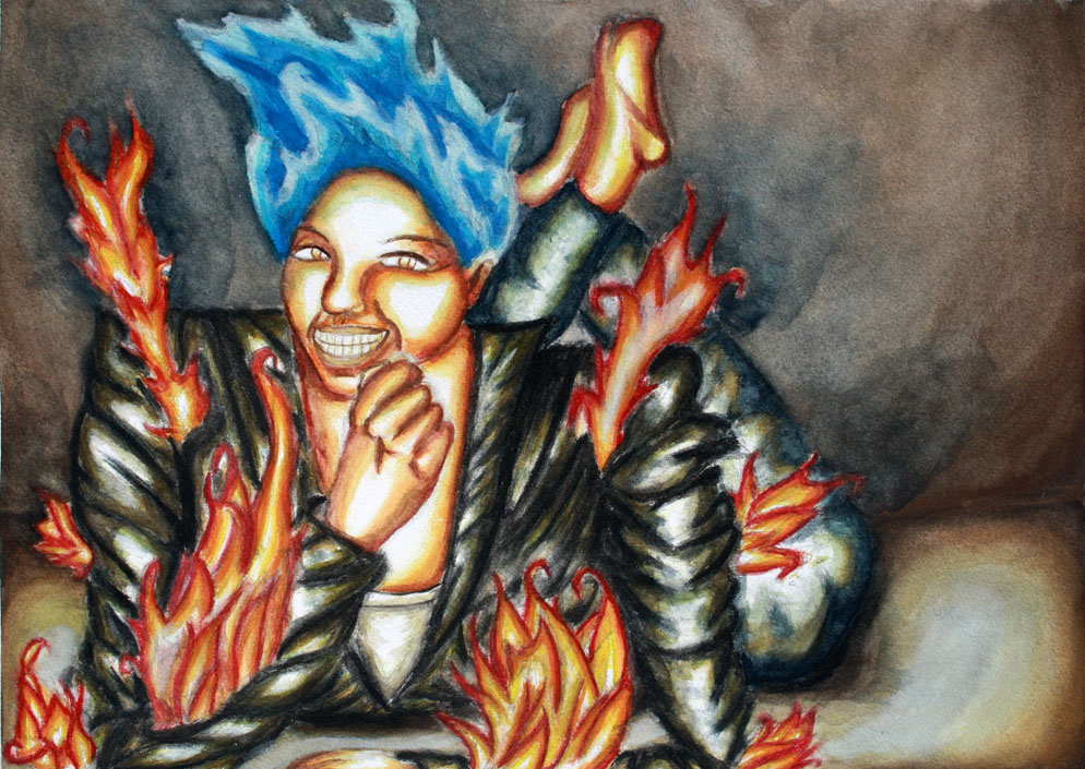 The Mischievious Fire Goddess by Drakona1221
