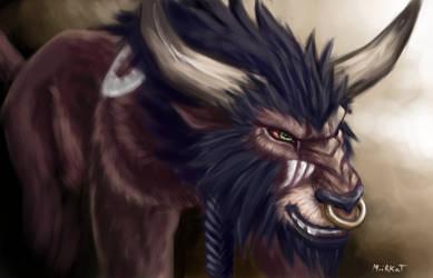 Tauren Kitty Druid by Miirkat