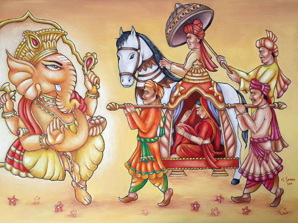 Hindu wedding procession by nsoman84 on deviantart hindu wedding procession by nsoman84 junglespirit Images
