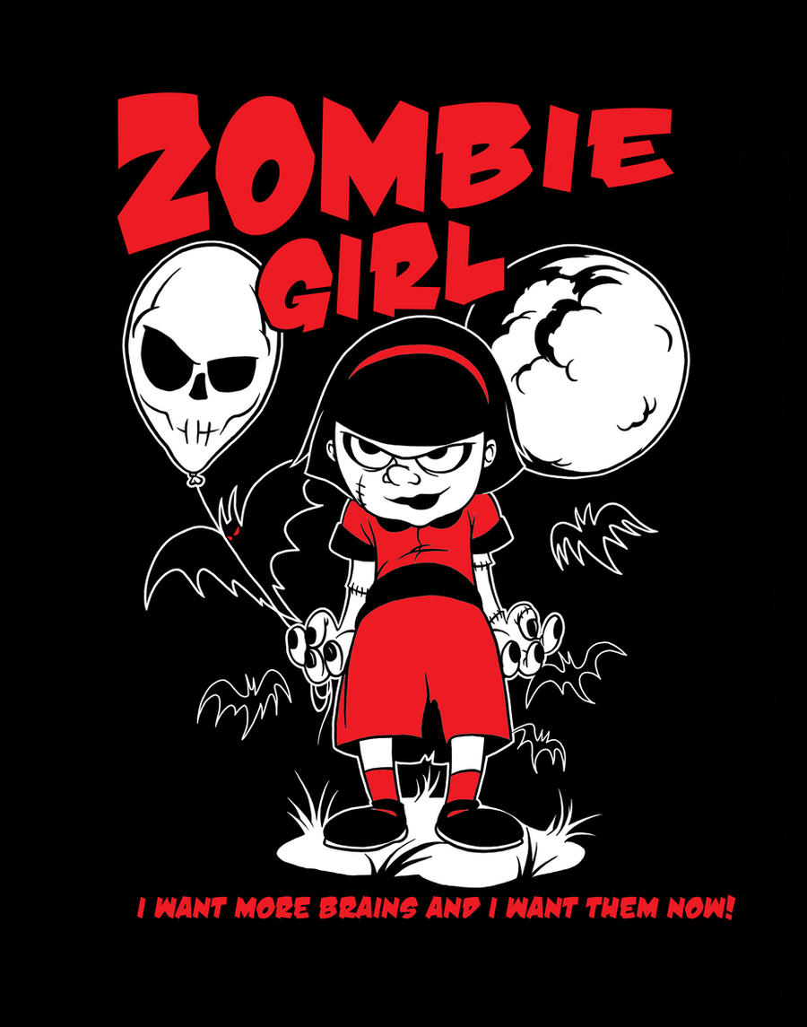 Zombie girl Tshirt by zombie-you