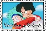 stamp: Yamcha and Bulma by CogetaCats