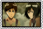 stamp: Eren and Mikasa by CogetaCats