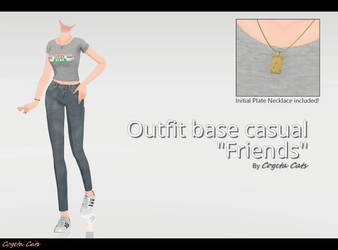 MMD - Outfit base casual Friends (DL)