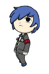 The protagonist of Persona 3 (Toon style) by Elza8
