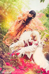 Sesshomaru and adult Rin by YuureiCosplay