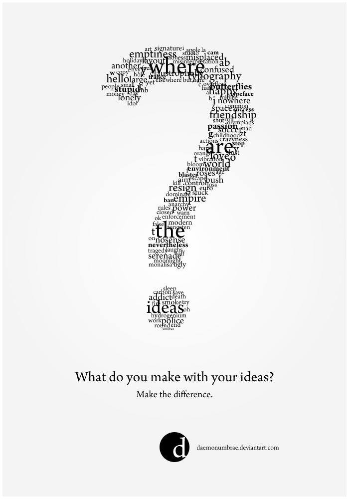 Where are your ideas? by daemonumbrae