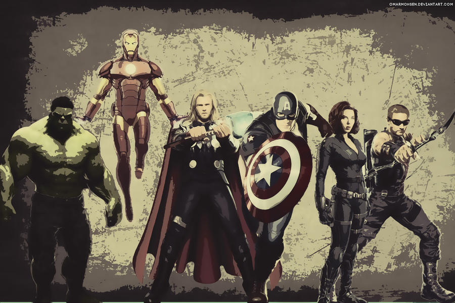 The Avengers Wallpaper by omarmohsen