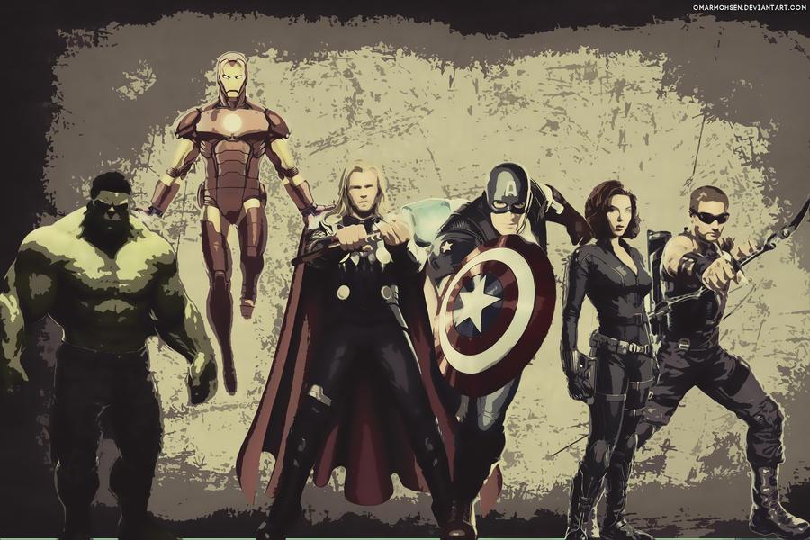 The Avengers Wallpaper by omarmohsen