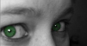 Green Eyes by JenFur04