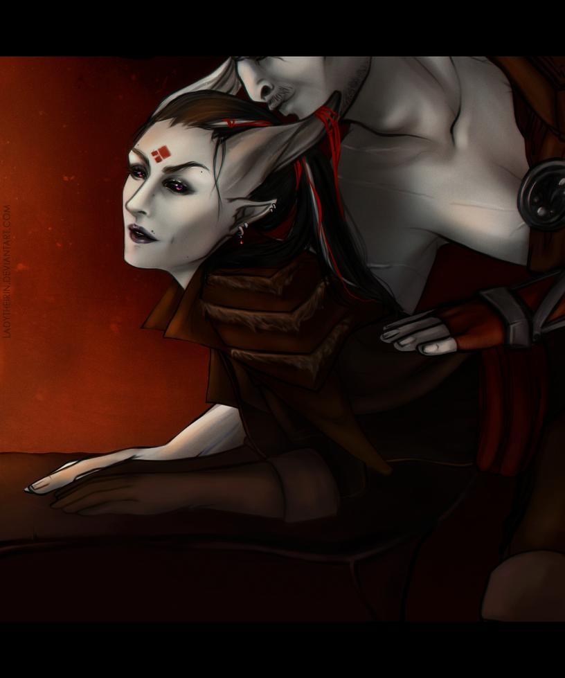 DAI: Flame {Iron Bull/Adaar} by LadyTheirin