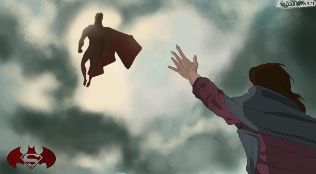 Batman v Superman - SupermanTAS by Rohit-Sawant
