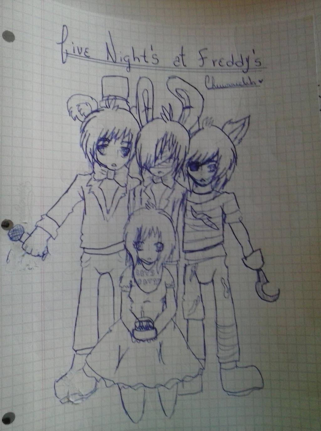 Five nights at freddys anime human ver by chewrriehh on