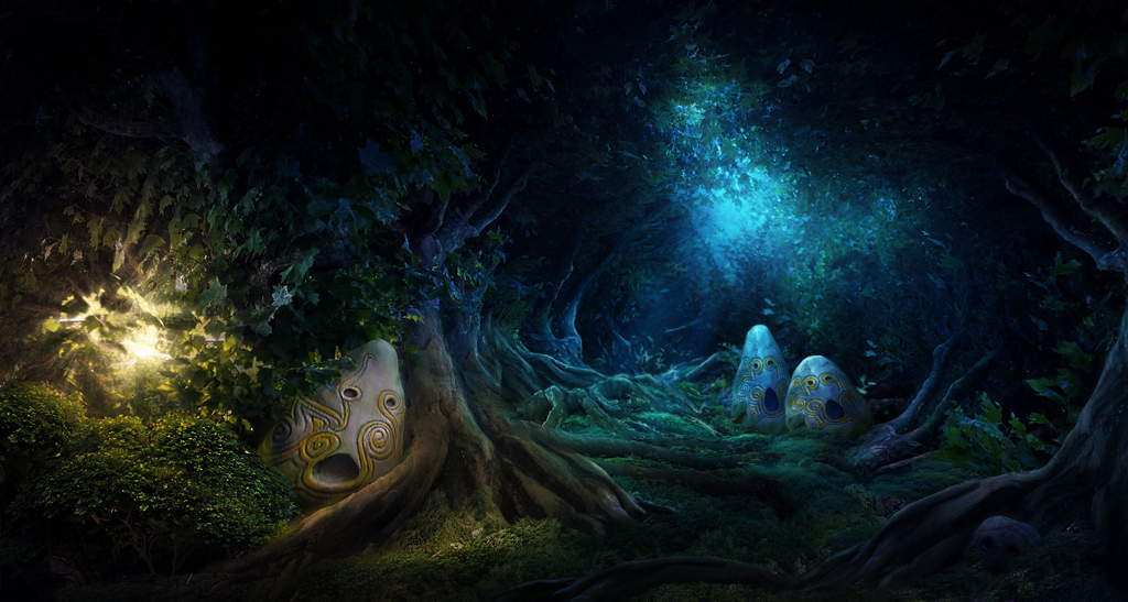 Magical forest by Tyami
