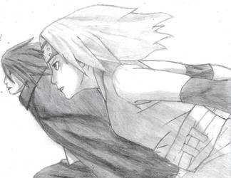 sasuke and sakura ( sasuke retsuden ) by tigermaster22