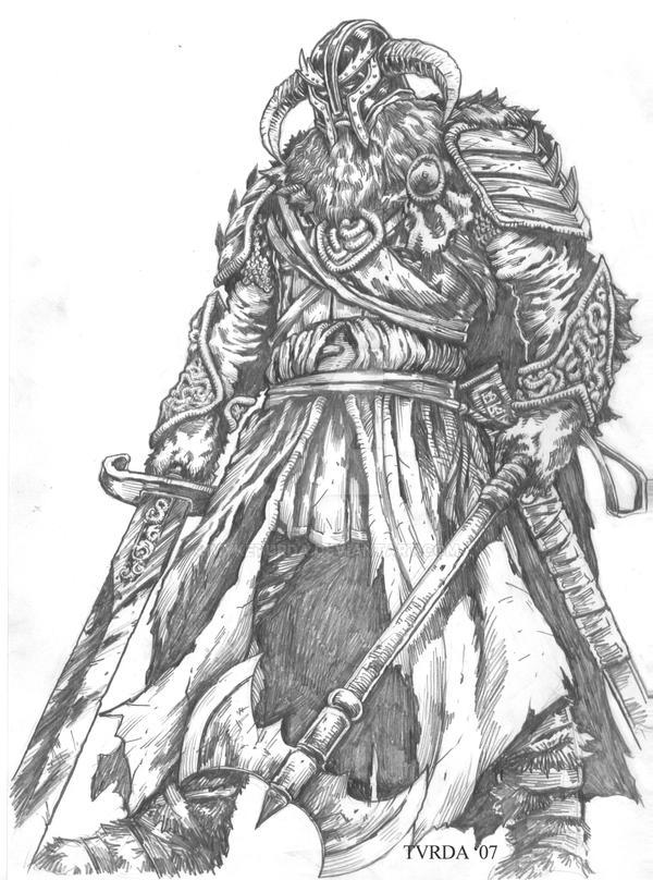 A Viking Warrior by myketurda on DeviantArt