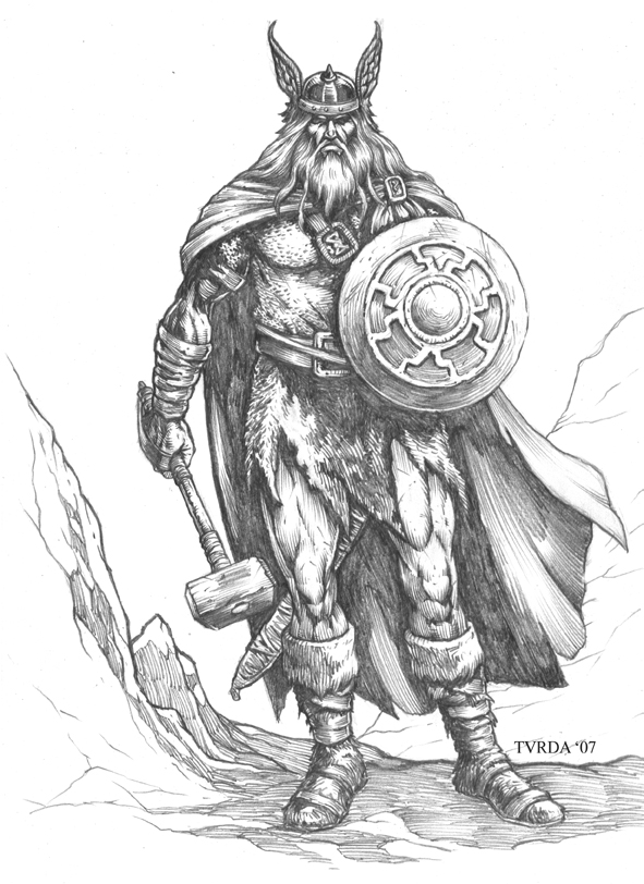 Viking Warrior Drawings Wwwimgarcadecom Online Image