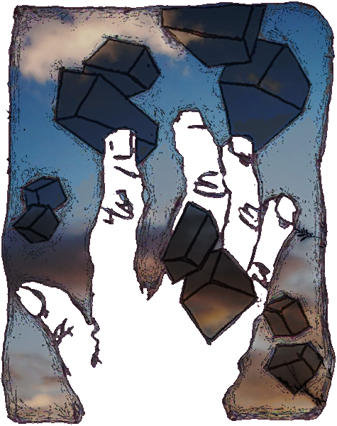 geometry and a hand for clouds by rioMenor