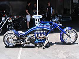 Insane Triumph Chopper by DrivenByChaos