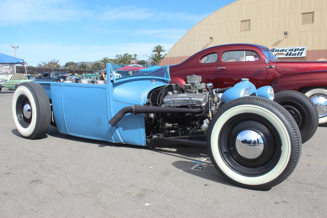 Cool Blue Hot Rod Truck by DrivenByChaos