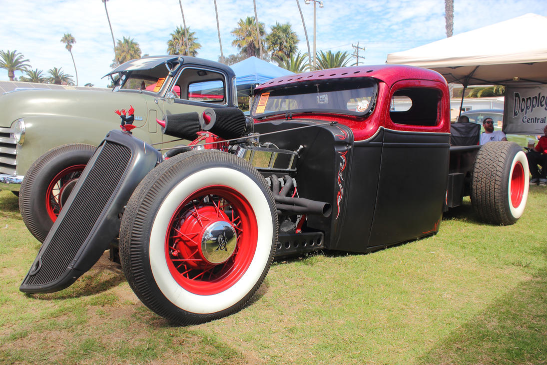 Black and Red Traditional Hot Rod Truck by DrivenByChaos on DeviantArt