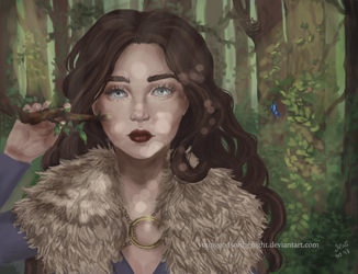 Lyanna Stark by younggodsofthenight