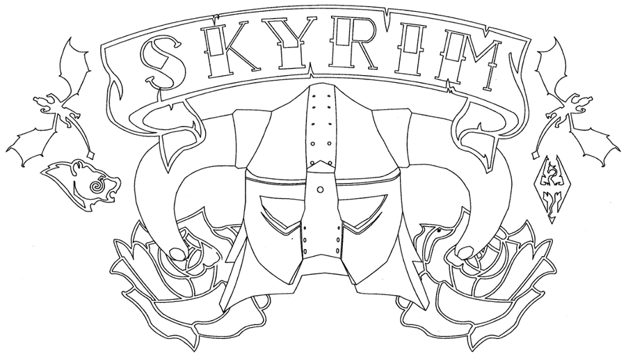 Skyrim Helmets Drawing Dragonborn Drawing Skyrim