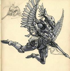 Eldar Inktober 03 Swooping Hawk