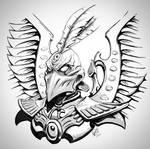 Phoenix Lord Baharroth Inktober by Sokil-Su