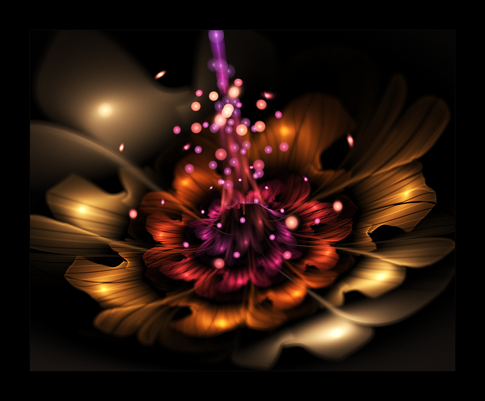 3d flower 1moonskulling on deviantart