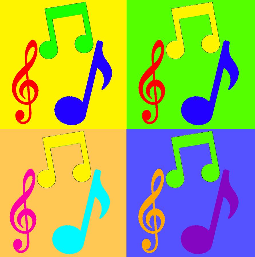 Music Note Pop Art by ZackTv321 on DeviantArt
