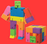Sprayed Strokes Colorful Cubebot
