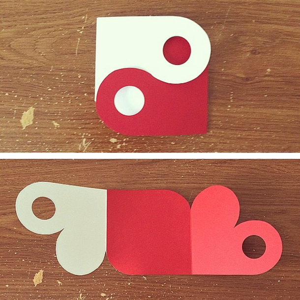 Yin-Yang Heart Card by ciaorain