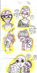 bocetos de dan dan