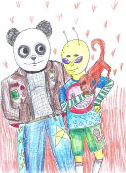 alien panda