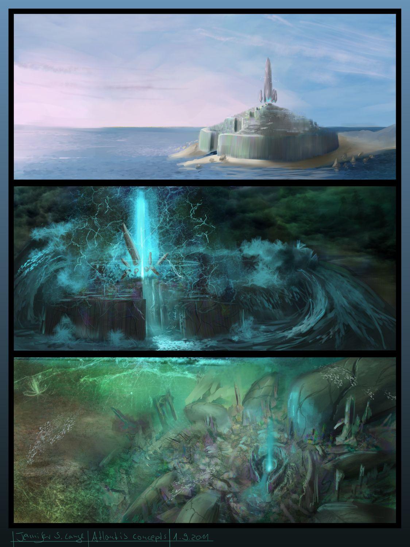 Atlantis concepts by Ranarh