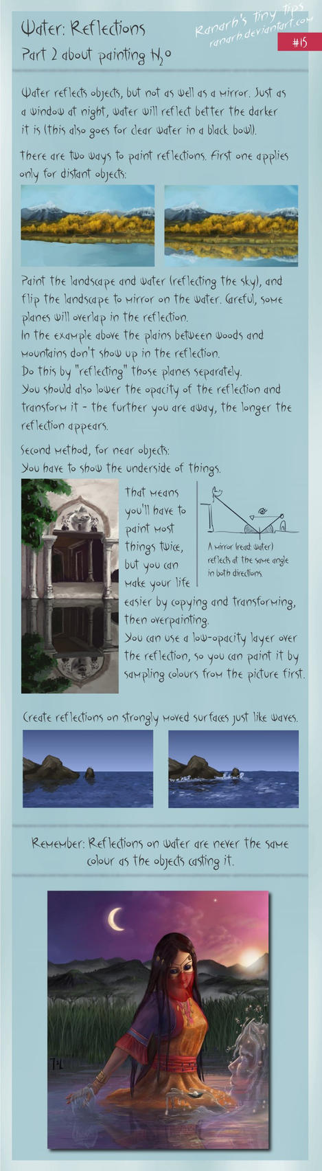 Tiny tips: Water: Reflections by Ranarh