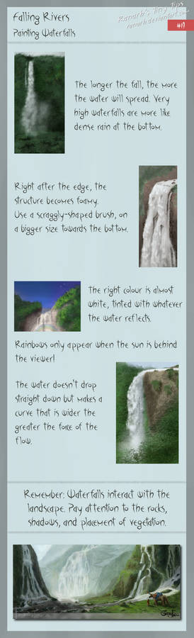 Tiny tips: Falling rivers