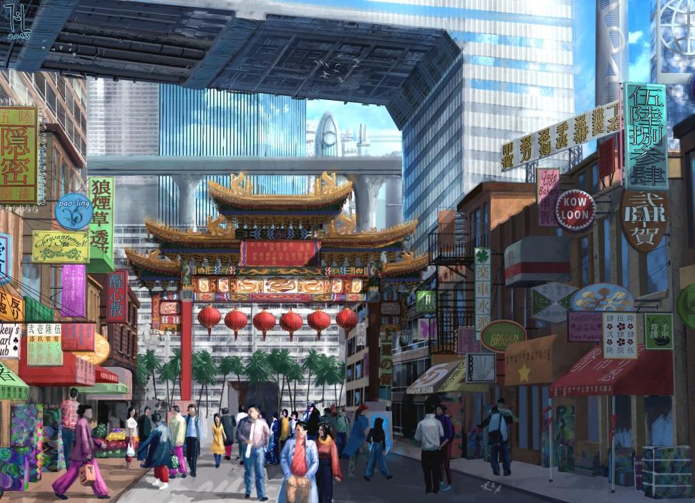 Neo Sacramento Chinatown by Ranarh