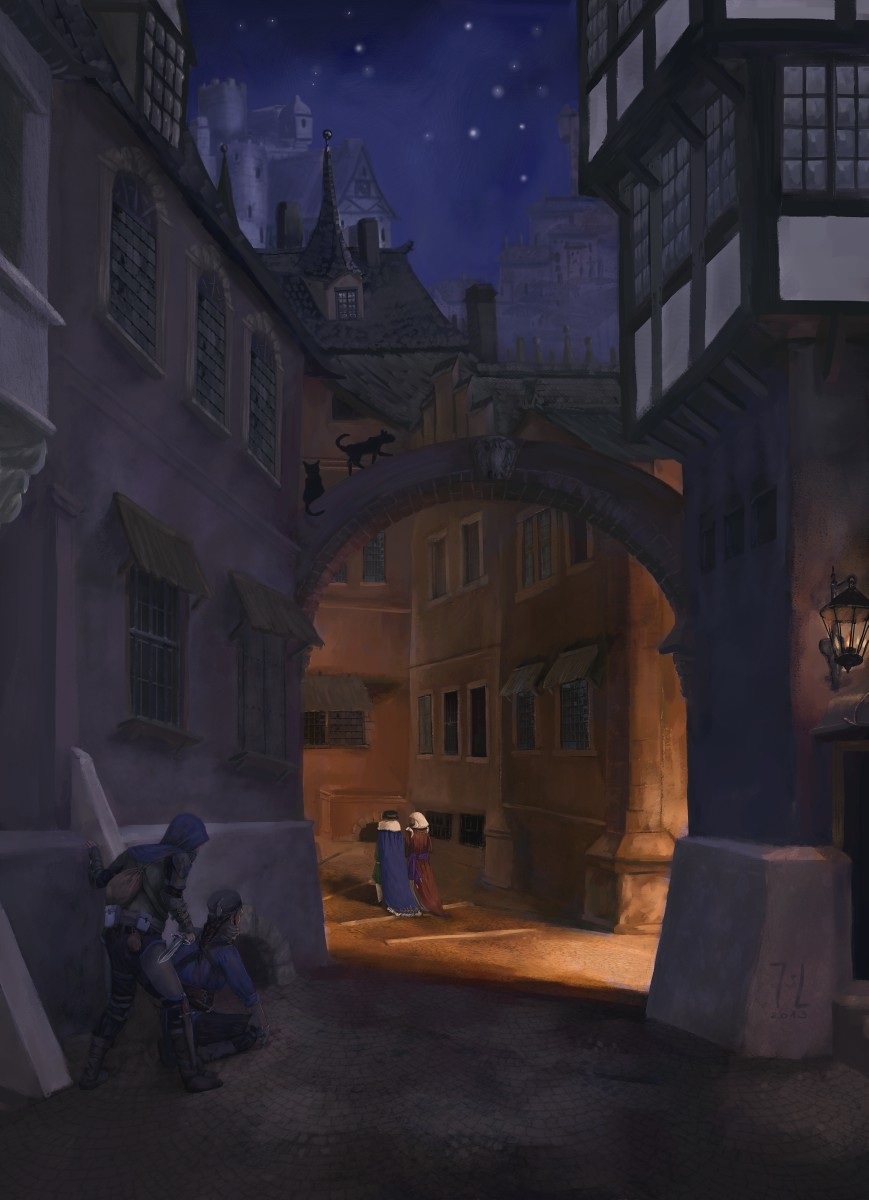The alleys of St. Forsinan by Ranarh