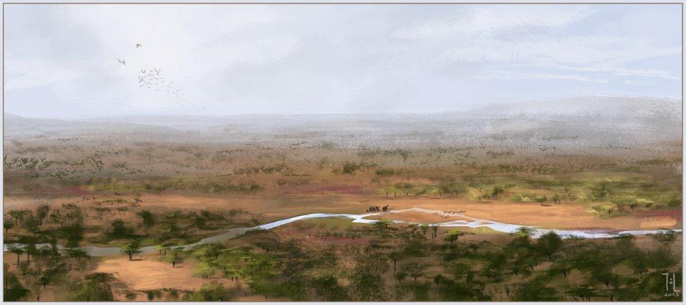 Savanna, probably Kenya by Ranarh